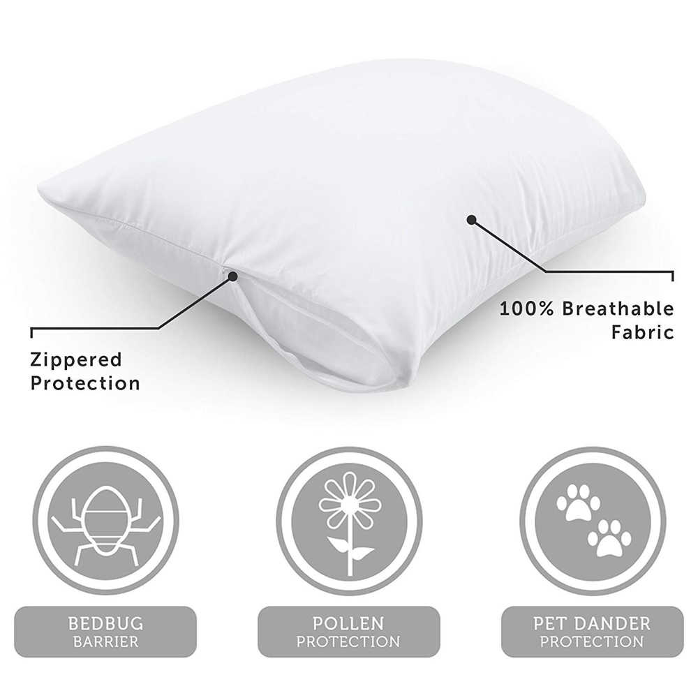 Warmtex Smooth Polyester Waterproof Pillow Protector Standard