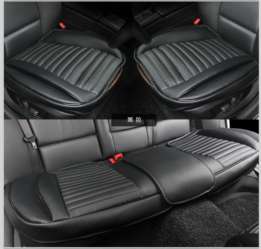 3Pcs Set New Car PU Leather Seat Cover Wearproof Cushion Protect Pad with Bottom Storage Bag in Automobiles Seat Covers from Automobiles Motorcycles