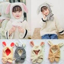 Зимние Детские Дети для мальчиков и девочек Вязаный Кролик крючком ушками теплая шапочка-бини Кепки