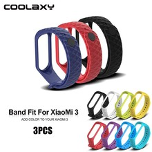 Coolaxy Silicone Watch Strap Wristband For Mi Band 3 Smart Xiaomi Bracelet