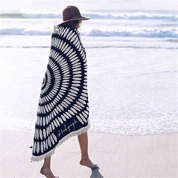 Round Microfiber Tessellate Mandala Beach Towel - Beach Blanket 4