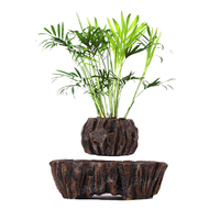 New Retro Suspended Plant Pot Creative Air Floating Magnetic Planter for Home Office Garden Decor EU Plug