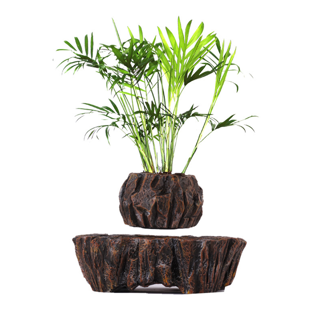 New Retro Suspended Plant <font><b>Pot</b></font> Creative Air Floating <font><b>Magnetic</b></font> Planter for Home Office Garden Decor - EU Plug image