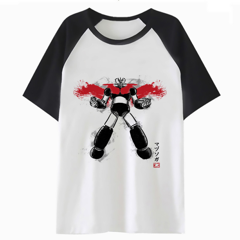 <font><b>mazinger</b></font> <font><b>z</b></font> <font><b>t</b></font> <font><b>shirt</b></font> harajuku funny men <font><b>t</b></font>-<font><b>shirt</b></font> for streetwear top male tshirt clothing hip hop tee I3735 image
