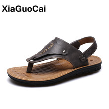 New Arrival Summer Men Sandals Slippers Two Uses Casual Flip Flops Male Beach Shoes Breathable Non-slip Flat Footwear 2019 Mules недорго, оригинальная цена