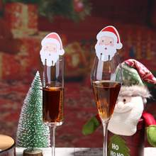 10pcs Christmas Table Place Cards Santa Claus Snowman Elk Home Christmas Wedding Party Wine Glass DIY Decoration(China)