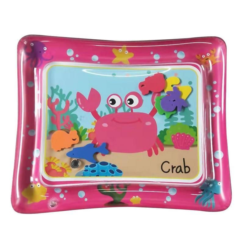 Baby Hot Pink Inflatable PVC Water Play Mat Summer Cool Thicken PVC Infant Tummy Time Play Mat for Baby Toddler Water Pad