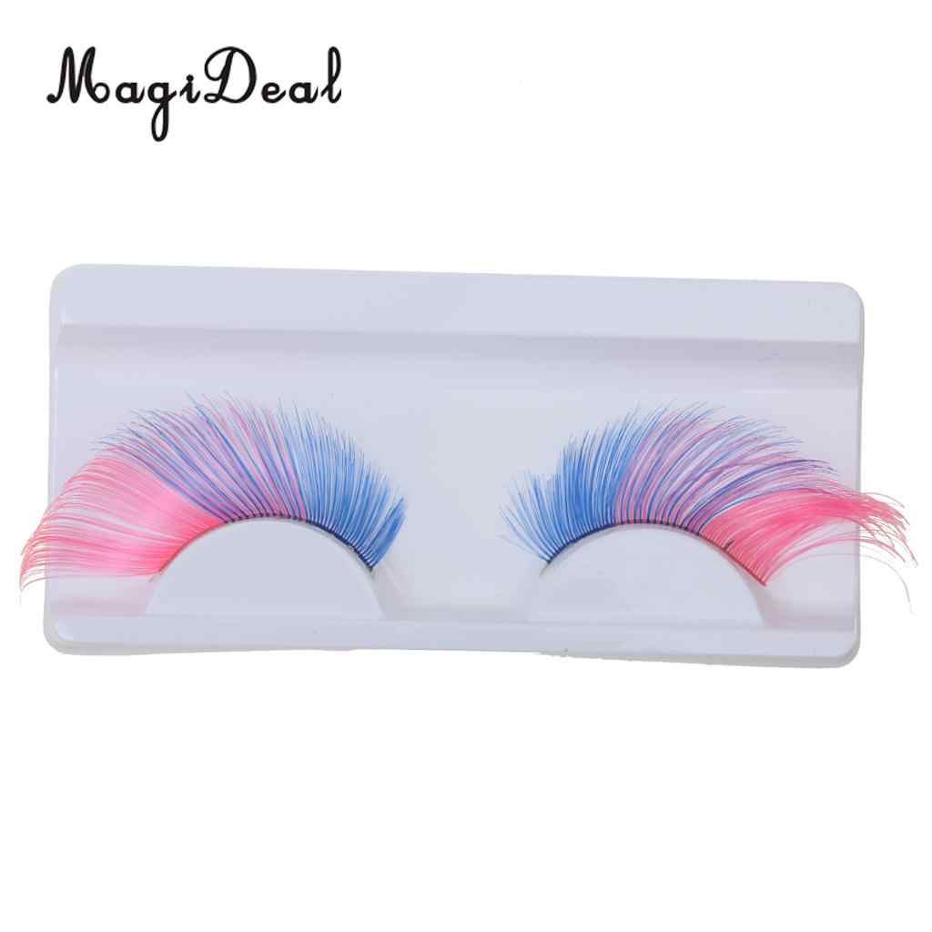2a5699b479b MagiDeal 1 Pair Long Exaggerated Fashion Colors Cosplay Feather False  Eyelashes Costume Party Halloween Eye Lashes