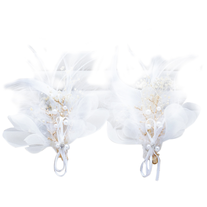Wedding Dress Accessories Hair Clips in Crepe with Flowers Floral Headwear Accessories for Hair Clips Jewelry (5 Pieces)