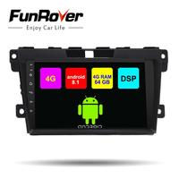 Funrover 9 Octa core Android 8.1 2 din Car DVD Player multimedia stereo for Mazda CX7 CX 7 car radio gps DSP 4G 64G LTE wifi FM