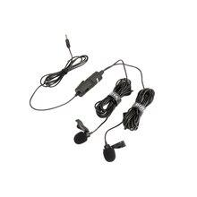 BOYA BY-M1DM двойной всенаправленная нагрудная гарнитура микрофон клип-на лацкан микрофон для смартфонов камеры видеокамеры Аудио рекордер