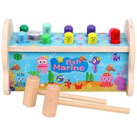 Baby Children Wooden Noise Maker Musical Children Parent child Interaction Ocean Whack a mole Puzzle Toys