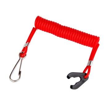 Безопасность водного ремесла лодочный мотор подвесной выключатель ключ шнур зажим зажигание двигателя красный водного спорта гребные инструменты для лодок
