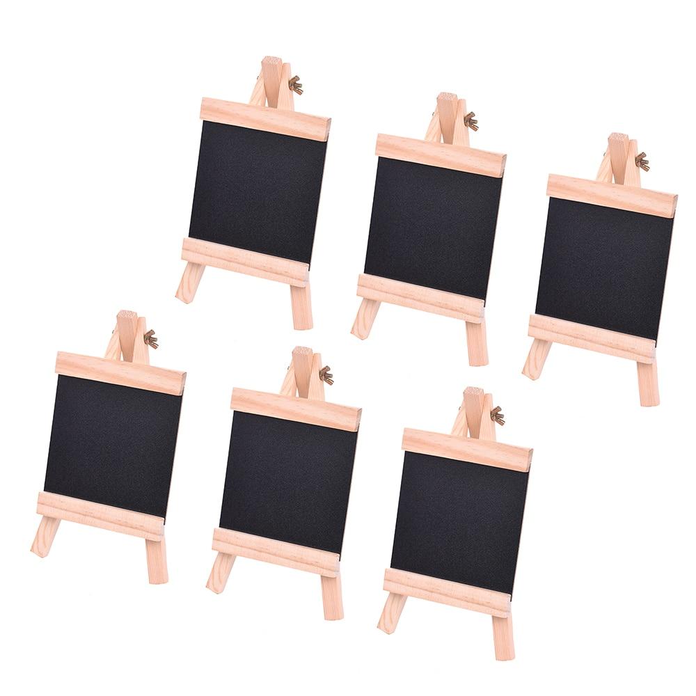 DemüTigen Holz Tafel Mit Pvc Panel Tabletop Präsentation Bord Mini Staffelei Kiefer Tafel Mit Einstellbare Holz Ständer Set Von 6 Schrumpffrei Reißbrett