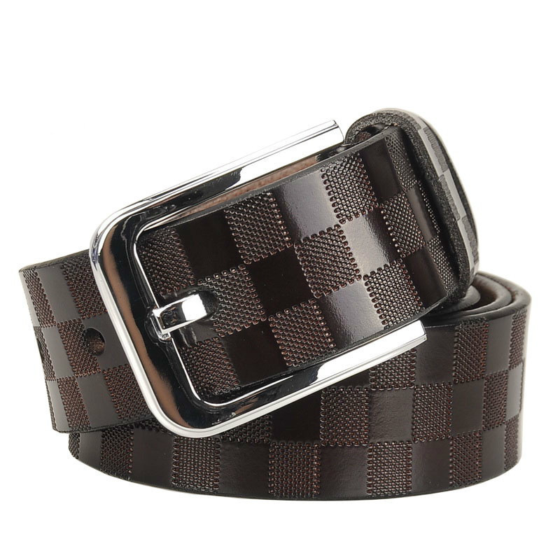 2018 Fashionable Mens   Belts   Pin Buckle Branded   Belts   For Men Genuine Leather Black Brown   Belt   Pants Ceinture Homme