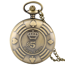 Antique Mens Pocket Watch Bronze Arabic Numeral Scale Pocket Watch for Boy Retro Nostalgia Pocket Watches for Teenager pocket