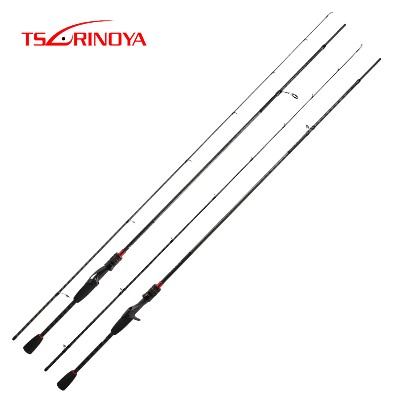 TSURINOYA New Carbon Fishing Rod HACKER UL L ML M MH Power FUJI Guide Rings Accessories