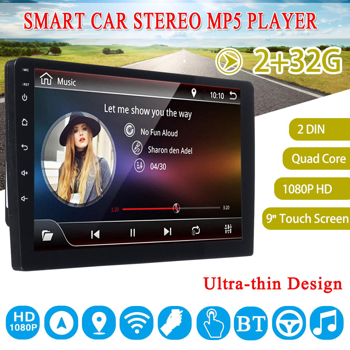 9 Car Stereo 2 Din 2G+ 32G for Android 7.1 bluetooth WIFI GPS Radio Video MP5 Player Navigation Car Multimedia Player9 Car Stereo 2 Din 2G+ 32G for Android 7.1 bluetooth WIFI GPS Radio Video MP5 Player Navigation Car Multimedia Player