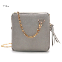 witfox small cross body bags for women 2019 double flap bag tassel mini shoulder girls clutchs female ladies hand
