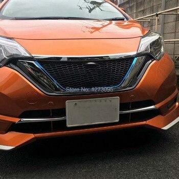 Für Nissan Note 2017 2018 2019 ABS Chrom Front Motorhaube Top Grille Haube Deckel Abdeckung Aufkleber Protector Auto Styling Zubehör