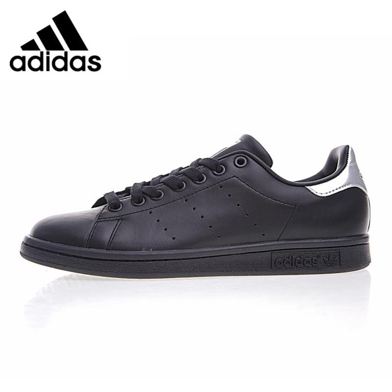 Adidas Shamrock STAN SMITH Men's Walking Shoes Black Abrasio