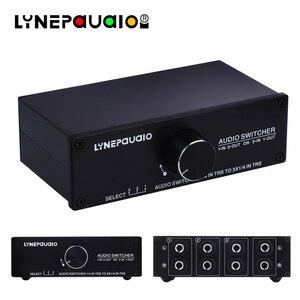 Аудио коммутатор 1 вход 3 выхода или 3 входа 1 выход стерео переключатель динамиков 1/4 TRS 6,35 мм входной и выходной интерфейс