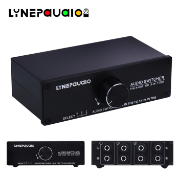 цена Audio Switcher 1 Input 3 Output or 3 Input 1 Output Stereo Speaker Switch 1/4 TRS 6.35mm Input and Output Interface онлайн в 2017 году