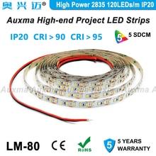 High Power 2835 120LEDs/m LED Strip,CRI95 CRI90,IP20 DC12V/24V,28.8W/m 19.2W/m 600LEDs/Reel,Non-waterproof for hotel lobby