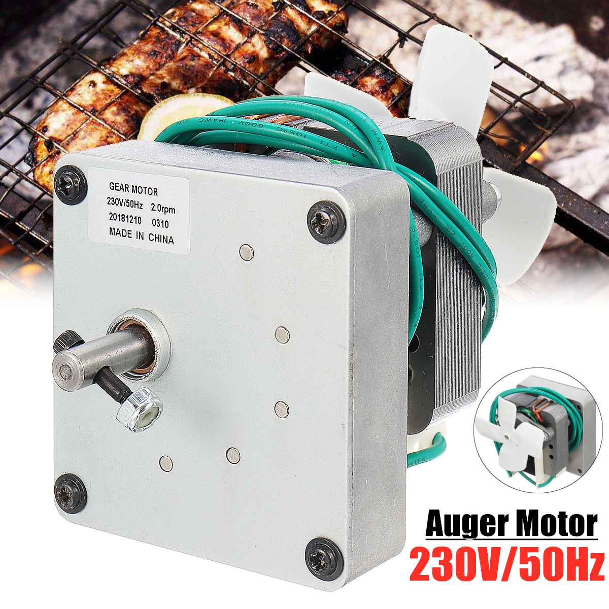 230v 1 5 2 0 Rpm Replacement Auger Motor For Pit Boss