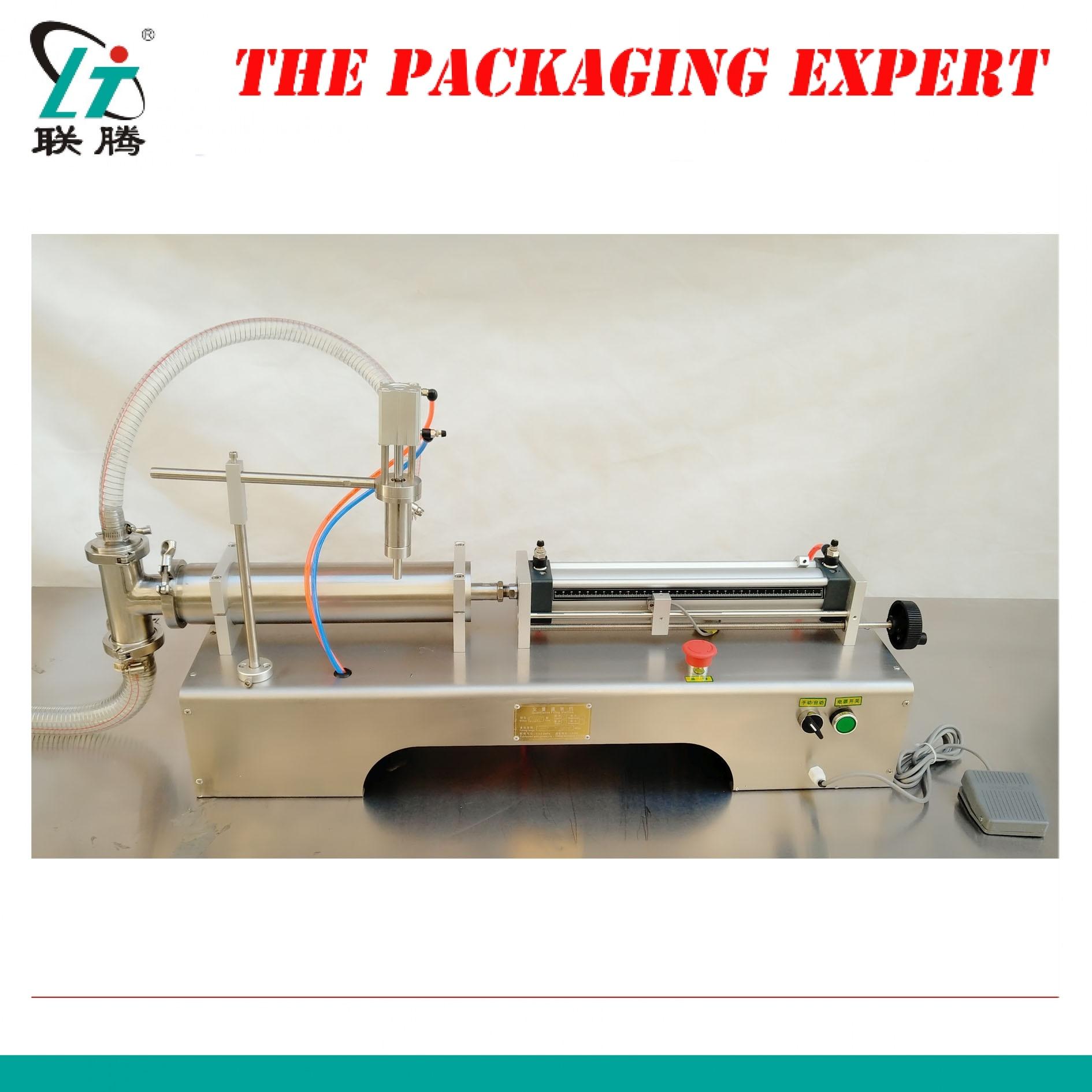 500ml Pneumatic Piston Liquid Filler Shampoo Gel Water Wine Milk Juice Vinegar Coffee Oil Drink Detergent Filling Machine