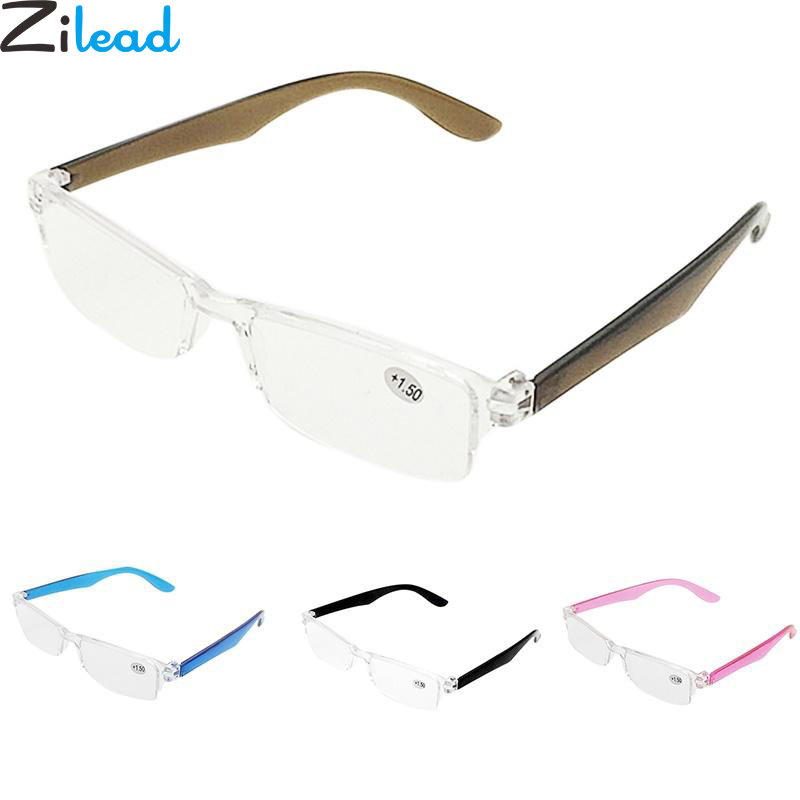 Zilead Ultralight Reading Glasses Vintage Portable Magnifier Clear Lens Prescription Presbyopic Glasses Eyewear For Elder
