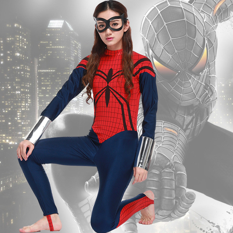 Women's Spiderman Costumes Spider Girl Spider-Man Superhero Cosplay Fancy Dress