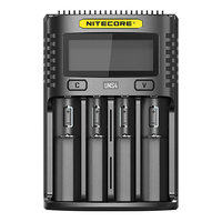 Nitecore UMS4 LCD Screen USB Battery Charger for Daily Use Rechargeable Lithium ion / NiMH / NiCd