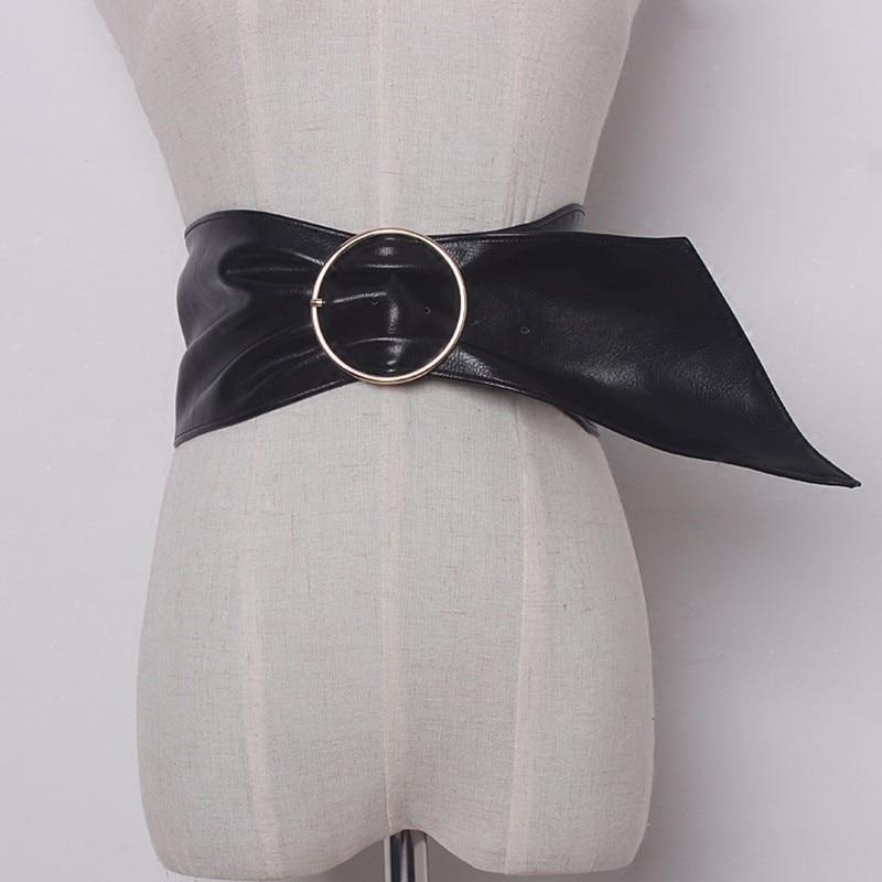 CHICEVER 2020 Black PU Leather Female Belts For Women Wide Cummerbund Good Quality Corset Bodycon Elegant Slim Belt Fashion New