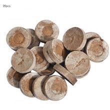 20 шт торф гранулы семян стартер роста семян поддон блоки грунта под рассаду Волшебная почва Средний упакованный блок рассады