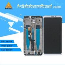 """מקורי LCD מסגרת עבור 6.0 """"Meizu הערה 8 M822H Axisinternational LCD מסך תצוגה + מגע Digitizer לmeizu הערה 8 מסגרת"""