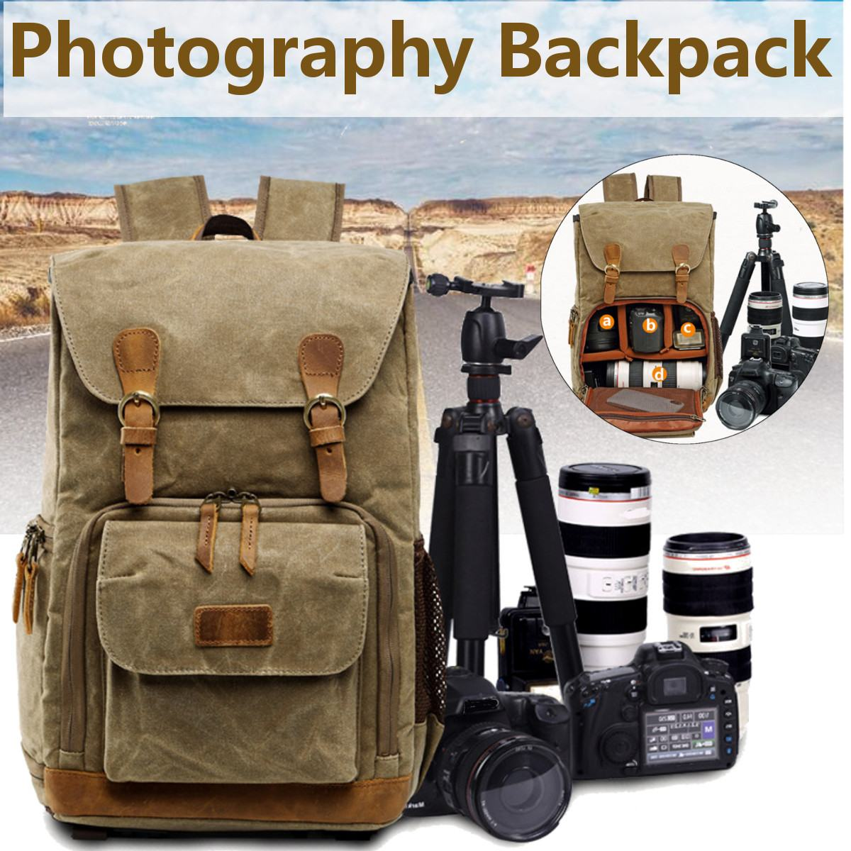 Consumer Electronics Batik Canvas Waterproof Trendy Vintage Leisure Photography Bag Outdoor Wear-resistant Large Backpack Men For Canon Nikon Sony In Many Styles Digital Gear Bags