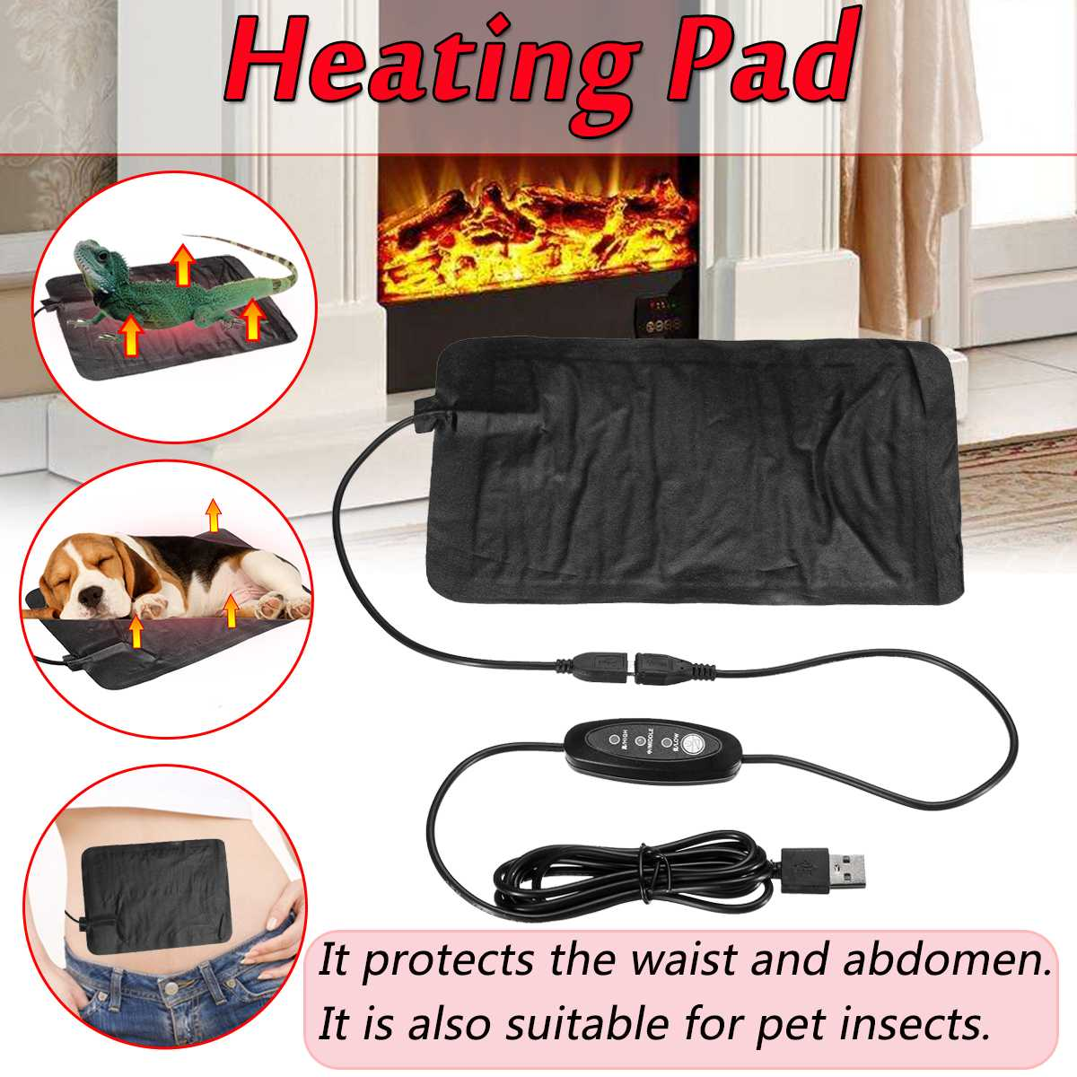 5V USB Electric Warming Heating Pad Waist Abdominal Neck Shoulder Relief Thermal Jackets Clothes Heating Reptile Pet Heating Pad5V USB Electric Warming Heating Pad Waist Abdominal Neck Shoulder Relief Thermal Jackets Clothes Heating Reptile Pet Heating Pad