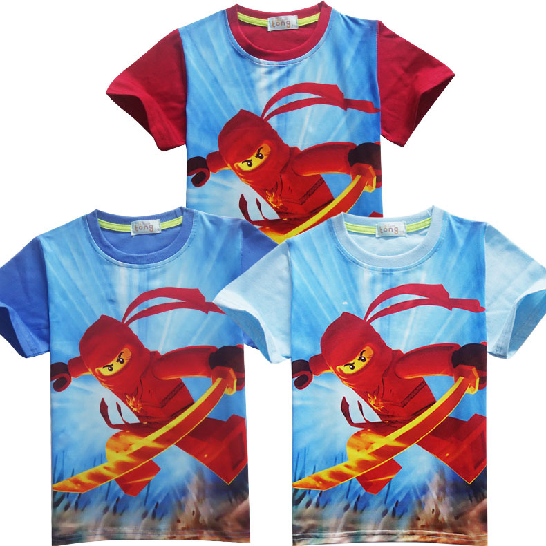 Kids T-Shirt Legoe Ninjago Sport-Tops Printed Girls Boys Cotton Cartoon Summer And Short