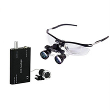 Medical Loupes 2.5/3.5X Binocular Magnifier Medical Dental Surgical Loupe+3WLED Medical Headlight Surgical Dental Headlamp цены