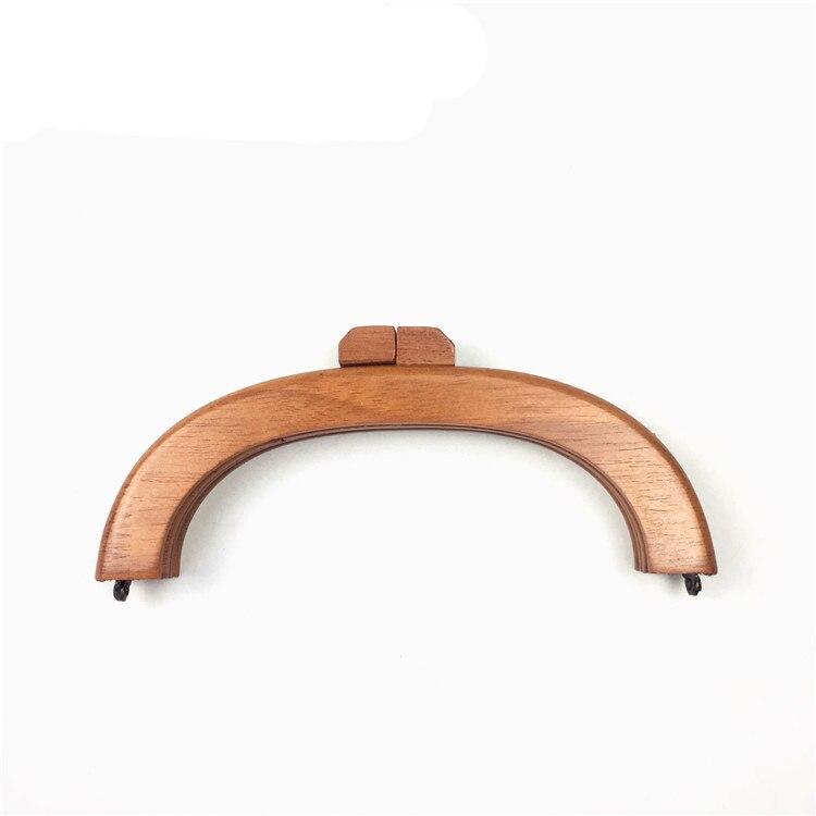 20cm Vintage Wooden Purse Frame Wood Clutch O Mini Bag Handles Parts Handle Accessories Wooden Purse Handle Diy Handle Frame