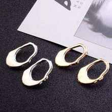 Fashion Punk Silver/Gold Color Hollow Irregular Round Ear Studs Chic Geometry Circle Stud Earrings Women Stylish Party Jewelry(China)