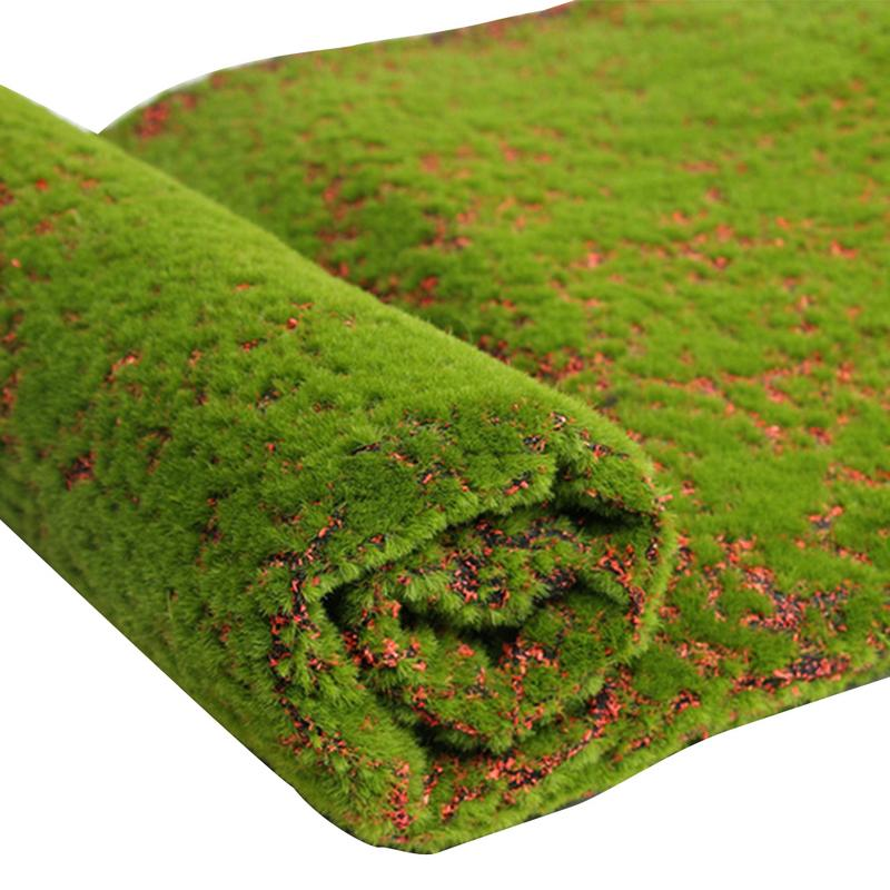 1x1m Stone Shape Moss Grass Mat Indoor Green Artificial Lawns Turf Carpets Fake Sod Moss For Home Hotel Wall Balcony Decor