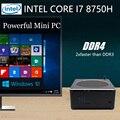 Mini PC, Desktop Computer, met Windows 10 Pro/Linux Ubuntu Ondersteuning, intel Core I7 8750 H, [HUNSN BY01L], [4USB3. 0/HD/RJ45/Mini DP]
