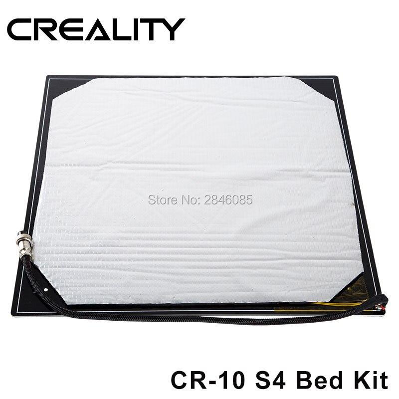 Nowy ulepszony Creality 3D gorąca płyta łóżko dla CREALITY 3D drukarki CR 10 S4 3d drukarki w Części i akcesoria do drukarek 3D od Komputer i biuro na AliExpress - 11.11_Double 11Singles' Day 1