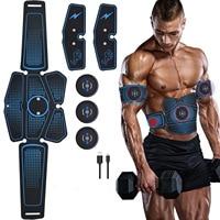 Smart Abdominal Stimulator Men And Women Muscle Stimulator Electrodes Fitness Belt Ems Trainer Device Vibrating Massager Health