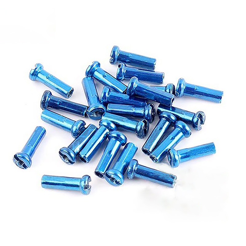 32pcs DT Swiss  Pro Lock 14G 2.0 x 16 mm Blue Aluminum Alloy Bike Spoke Nipples