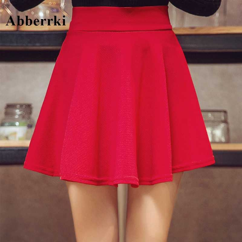 Nueva minifalda elástica de talla grande de verano para mujer, cintura alta, Falda plisada sexi para colegiala Saia femenina