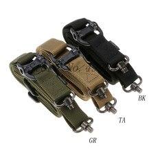Tático caça arma sling ajustável 1 único ponto bungee rifle sling cinta sistema novo 3 cores