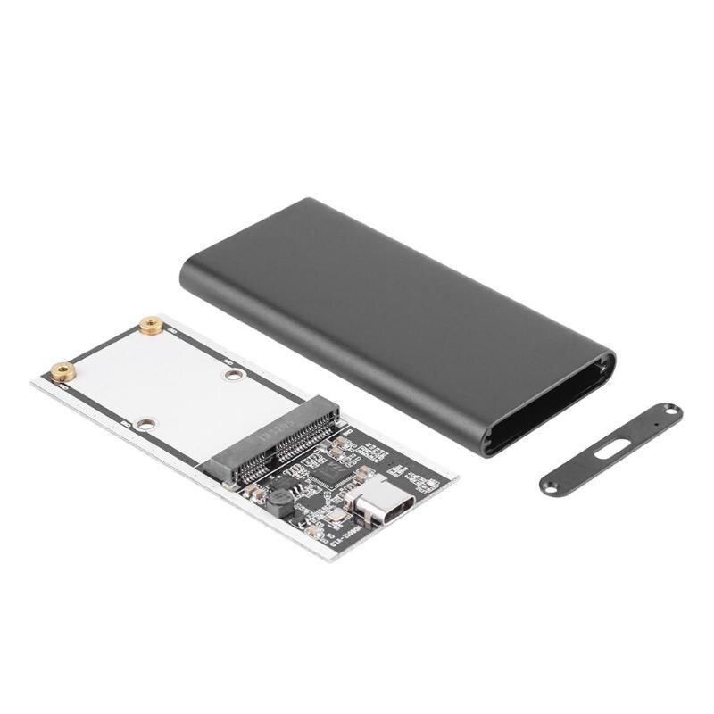 USB Type-C Aluminum HDD Box USB3.1 To MSATA SSD External Enclosure MSATA Solid State Hard Disk Drive Hdd Box Enclosure Case